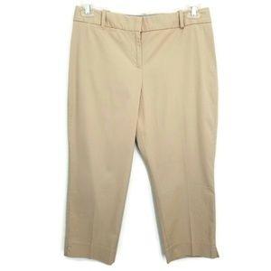 Talbots 8P 8 Petite Crop Curvy Pants khaki  NWOT